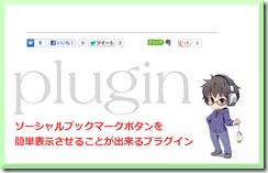 SNSボタンをワードプレスに表示させるプラグイン~カスタム付き~