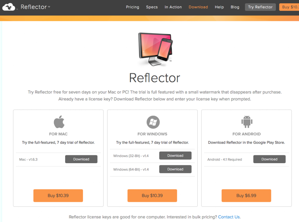 Reflector〜iPhoneの画面をパソコンに表示出来る神ツール〜