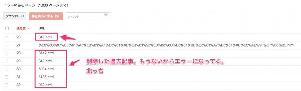 Google_Search_Console_404エラー