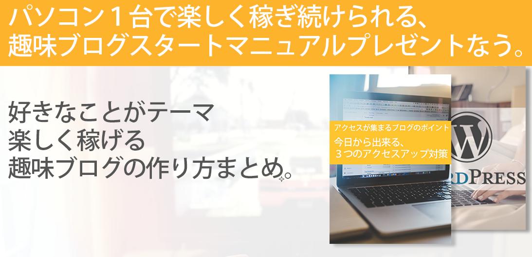 【無料】趣味ブログで楽しく稼ぎ続けるための特別マニュアル